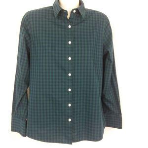 Land's End Button Down Plaid Shirt